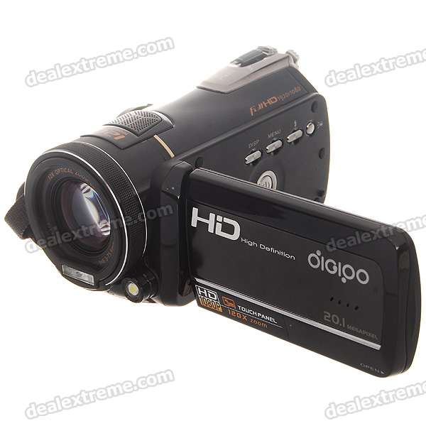"10.0MP CMOS 1080P HD Digital Video Camcorder w/ 12X Optical Zoom/HDMI/TV-Out/SD (3.0"" Touch LCD)"