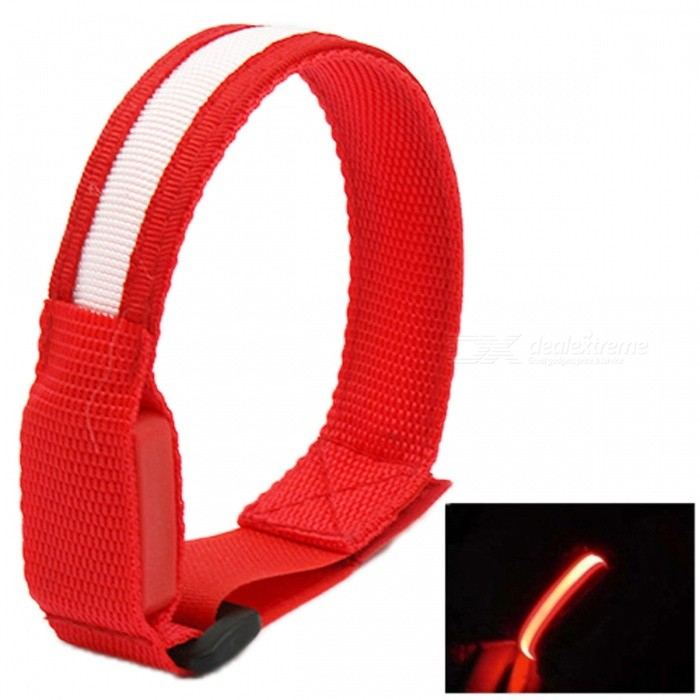 YWXLight Sports Glow Belt Light Arm Band LED Wrist Strap - Red LightLED Nightlights<br>Form  ColorRedMaterialNylonQuantity1 piecePower2WRated VoltageOthers,DC 5 VConnector TypeOthersColor BINRedEmitter TypeLEDTotal Emitters1Theoretical Lumens200-300 lumensActual Lumens100-200 lumensColor Temperature12000K,OthersDimmableNoBeam Angle180 °Installation TypeOthersPacking List1 x YWXLight Glow Belt Light Arm Band<br>