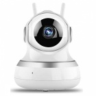 1.0MP 1080P HD Trådlös Baby Monitor-Silver (US Plug)