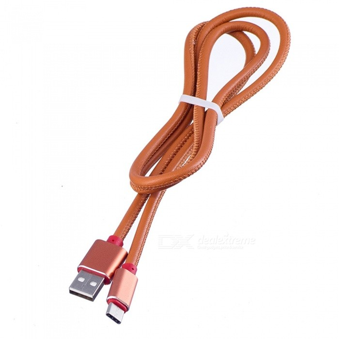Leather USB3.1 Type-C to USB Fast Charging Data Cable - BrownCables<br>Form  ColorBrownMaterialLeatherQuantity1 DX.PCM.Model.AttributeModel.UnitCompatible ModelsType-C port mobile phonesCable Length96 DX.PCM.Model.AttributeModel.UnitConnectorUSB 2.0Packing List1 x Leather Type-C Cable<br>