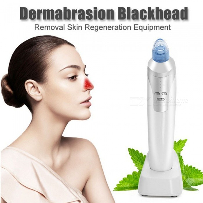 Vacuum Pore Cleaner, Vacuum Blackhead Remover Suction Machine - WhiteFacial Care<br>Form  ColorWhiteModelSC299MaterialComposite MaterialQuantity1 setShade Of ColorWhitePower SupplyOthers,USB chargingCertificationCE, RoHS, FCC, PSEPacking List1 x Beauty Machine1 x Stand Charger1 x USB Cable1 x User Manual1 x Diamond Head1 x Big Hole Head1 x Small Hole head1 x Oval Hole Head1 x 2 Packs Filter Sponge<br>