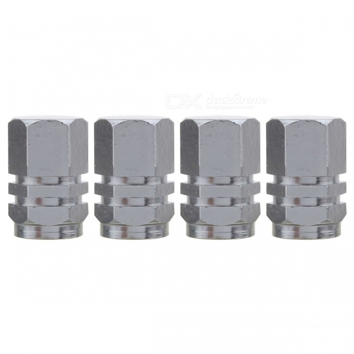 MZ Hexagon Aluminum Car Tire Valve Stem Caps - Gray (4 PCS)Tire Valve Caps<br>Form  ColorGreyModelHexagon-GrayQuantity1 setMaterialAluminumShade Of ColorGrayCompatible MakeUniversalDiameter8 mmThread1 mmPacking List4 x Valve Caps<br>