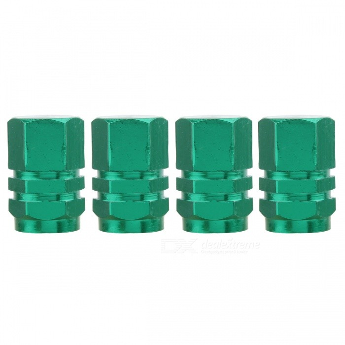 MZ Hexagon Aluminum Car Tire Valve Stem Caps - Green (4 PCS)Tire Valve Caps<br>Form  ColorGreenModelHexagon-GreenQuantity1 DX.PCM.Model.AttributeModel.UnitMaterialAluminumShade Of ColorGreenCompatible MakeUniversalDiameter8 DX.PCM.Model.AttributeModel.UnitThread1 DX.PCM.Model.AttributeModel.UnitPacking List4 x Valve Caps<br>