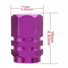 MZ Hexagon Aluminum Car Tire Valve Stem Caps - Purple (4 PCS)