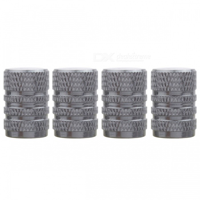 MZ Round Aluminum Car Tire Valve Stem Caps - Gray (4 PCS)Tire Valve Caps<br>Form  ColorGreyModelRound-GrayQuantity1 DX.PCM.Model.AttributeModel.UnitMaterialAluminumShade Of ColorGrayCompatible MakeUniversalDiameter8 DX.PCM.Model.AttributeModel.UnitThread1 DX.PCM.Model.AttributeModel.UnitPacking List4 x Valve Caps<br>