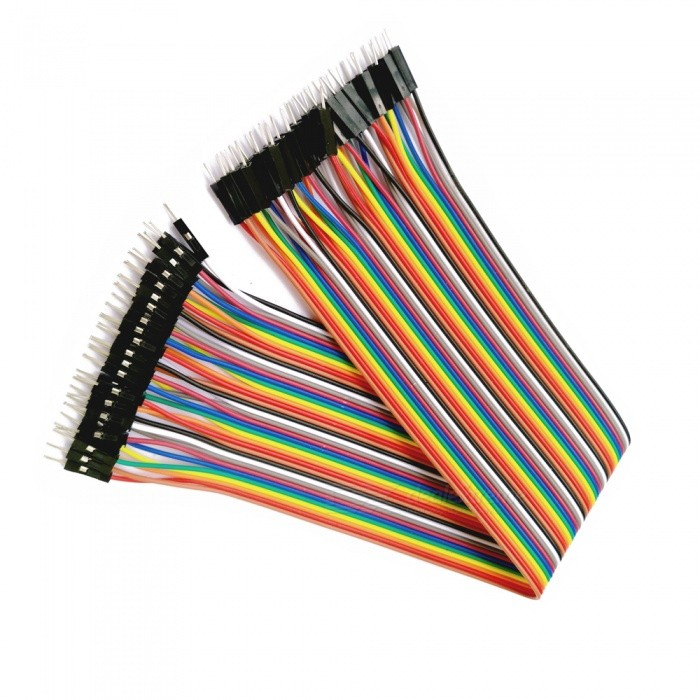 DIY Male to Male DuPont Adapter Cables - Multicolor (30cm, 40PCS)DIY Parts &amp; Components<br>Form  ColorMulticolor (Male to Male, 30cm)Quantity1 DX.PCM.Model.AttributeModel.UnitMaterialPCE-AEnglish Manual / SpecNoCertificationNoPacking List1 x 40P DuPont cable<br>