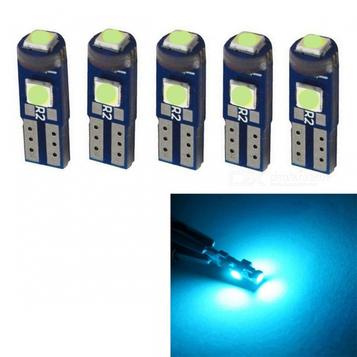 JRLED T5 1W Ice Blue Light 3-SMD 3030 LED Indicator Light (5PCS)Decorative Lights / Strip<br>Color BINIce blueModelT5 LEDQuantity5 piecesMaterialGlass fiber board +LEDForm  ColorBlueEmitter TypeOthers,3030 SMDChip BrandEpistarTotal Emitters3Color Temperature490 KWavelengthN/A cmRate VoltageDC12VPower1WTheoretical Lumens90 lumensActual Lumens50 lumensWater-proofNoApplicationIndicator lampCertificationCE RoHSPacking List5 x T5 LED Lights<br>