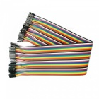 DIY Female to Female DuPont Adapter Cables - Multicolor (30cm, 40PCS)