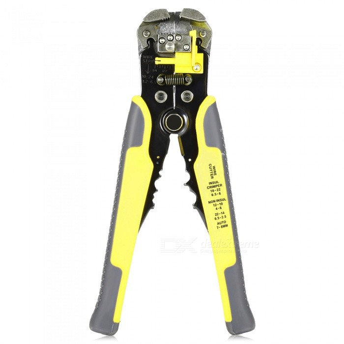 AC-26 Multi-function Heavy-duty Automatic Wire Strippers - YellowOther Tools<br>Form  ColorYellowModelAC-26Quantity1 DX.PCM.Model.AttributeModel.UnitMaterialCarbon steel and plasticPacking List1 x Wire strippers<br>