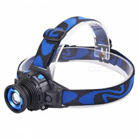 Cree XM-L Q5 300lm Rechargeable 3-Mode White Headlamp - Blue, Black