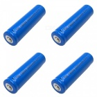 ZHAOYAO 4Pcs 3.7V 18650 Blue 3000mAh Rechargeable Lithium Battery