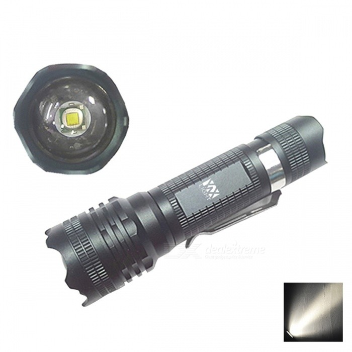 YWXLight Portable Mini Tactical Handheld Torch, LED Flashlight18650 Flashlights<br>Form  ColorBlackBrandOthers,N/AQuantity1 DX.PCM.Model.AttributeModel.UnitMaterialAviation aluminumOther FeaturesWaterproof,Zoom-to-throw,TacticalEmitter BrandOthersLED TypeXM-LEmitter BINT6Number of Emitters1Color BINWhiteWorking Voltage   4.5 DX.PCM.Model.AttributeModel.UnitPower Supply2-3 HoursCurrent- DX.PCM.Model.AttributeModel.UnitOutput(lumens)801-1000Theoretical Lumens800-1000 DX.PCM.Model.AttributeModel.UnitActual Lumens800-900 DX.PCM.Model.AttributeModel.UnitRuntime(hours)3.1-4Runtime2-3 DX.PCM.Model.AttributeModel.UnitNumber of Modes5Mode ArrangementHi,Mid,Low,Fast Strobe,SOSMode MemoryNoSwitch TypeClicky SwitchSwitch LocationTailcapLensPlasticReflectorOthers,Aluminum Beam Range400-500 DX.PCM.Model.AttributeModel.UnitStrap/ClipNoPacking List1 x YWXLight LED Flashlight<br>