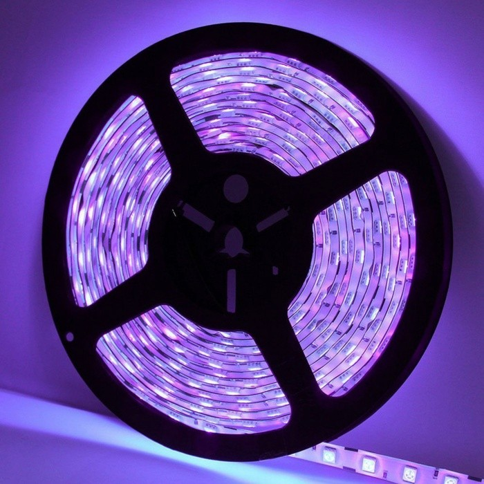 ZHAOYAO Non-Waterproof 72W DC12V 5050SMD 300-LED Strip Light - Purple5050 SMD Strips<br>Form  ColorBlack + Silver + Multi-ColoredColor BINPurpleModel5050-300L-PurpleMaterialCircuit boardQuantity1 setPower72WRated VoltageDC 12 VEmitter Type5050 SMD LEDTotal Emitters300Wavelength390-410nmTheoretical Lumens7200 lumensActual Lumens20-6000 lumensPower AdapterEU PlugPacking List1 x LED strip1 x DC adapter1 x EU Power Adapter<br>