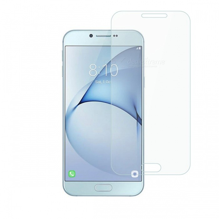 Dayspirit Tempered Glass Screen Protector for Samsung Galaxy A8 (2016)Screen Protectors<br>Form  ColorTransparentScreen TypeGlossyModelN/AMaterialTempered glassQuantity1 pieceCompatible ModelsSamsung Galaxy A8 (2016)FeaturesTempered glassPacking List1 x Tempered glass screen protector1 x Dust cleaning film 1 x Alcohol prep pad<br>