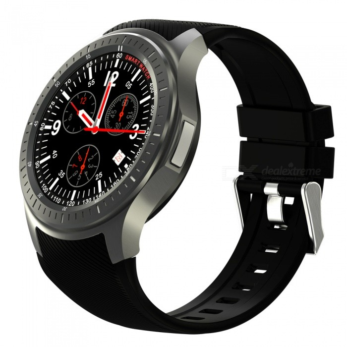 "DOMINO DM368 Plus 1.39"" AMOLED MTK6580 1GB 16GB Smart Watch - Black"