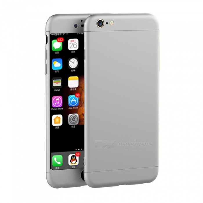 Naxtop 3 in 1 PC Hard Full Protective Case for IPHONE 6S, 6 - SilverPlastic Cases<br>Form  ColorSilver + SilverModelN/AQuantity1 pieceMaterialPCCompatible ModelsIPHONE 6S,IPHONE 6DesignSolid ColorStyleFull Body CasesPacking List1 x Case<br>