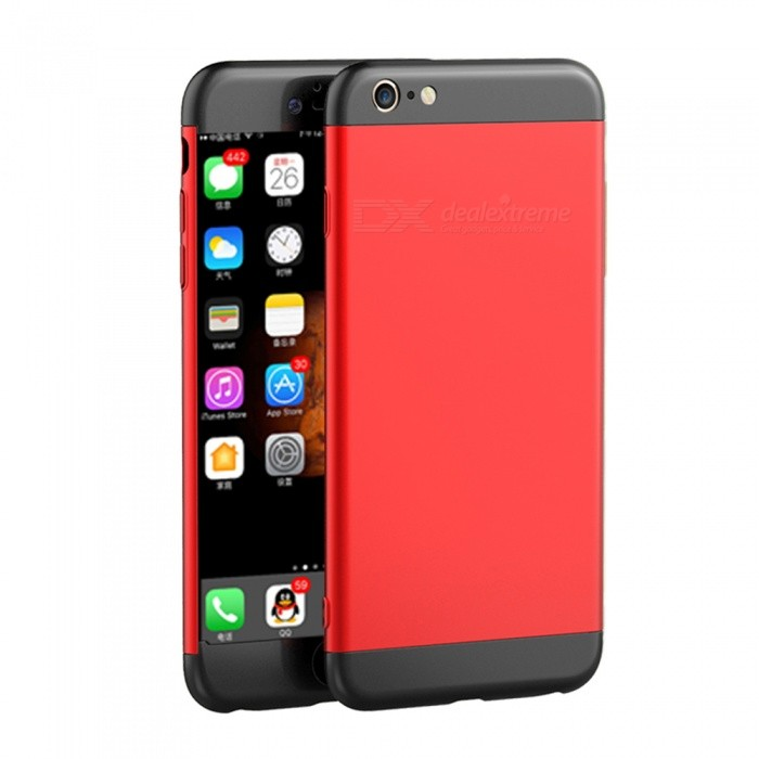 Naxtop 3 in 1 PC Hard Full Protective Case for IPHONE 6S 6 -Red, BlackPlastic Cases<br>Form  ColorRed + BlackQuantity1 pieceMaterialPCCompatible ModelsIPHONE 6S,IPHONE 6DesignMixed ColorStyleFull Body CasesPacking List1 x Case<br>
