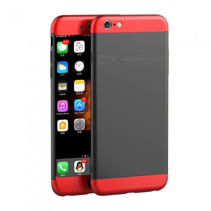Naxtop 3 in 1 Hard Full Protective Case for IPHONE 6S Plus - Black,RedPlastic Cases<br>Form  ColorBlack + RedModelN/AQuantity1 DX.PCM.Model.AttributeModel.UnitMaterialPCCompatible ModelsIPHONE 6S PLUS,IPHONE 6 PLUSDesignMixed ColorStyleFull Body CasesPacking List1 x Case<br>
