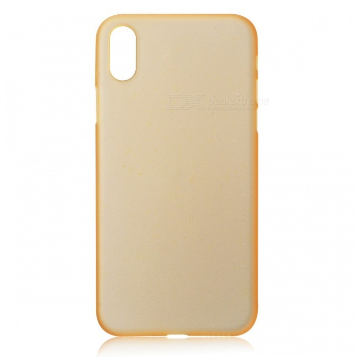 Protective Frosted TPU Back Case for IPHONE X - Translucent GoldenTPU Cases<br>Form  ColorGoldenModelN/AQuantity1 DX.PCM.Model.AttributeModel.UnitMaterialTPUCompatible ModelsOthers,IPHONE XDesignSolid ColorStyleBack CasesOther FeaturesProtects your cell phone from dust and scratches.Packing List1 x Back Case<br>