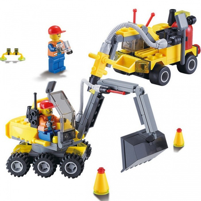 City Construction Excavator Building Block Set Toy