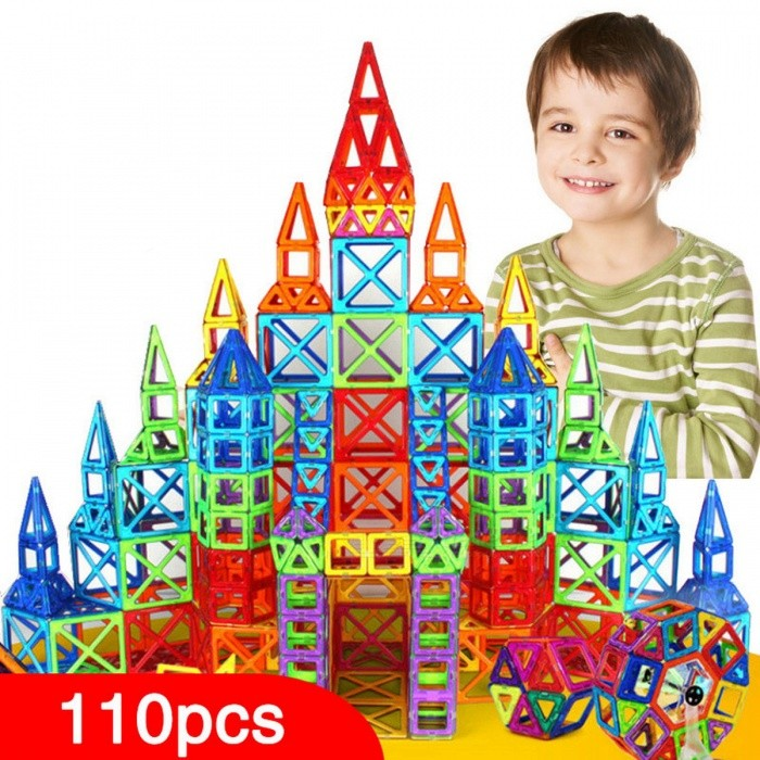 110-Piece Mini Magnetic Designer Construction Set ModelBlocks &amp; Jigsaw Toys<br>Form  ColorColourful (110Pcs)ModelN/AMaterialPlasticQuantity1 DX.PCM.Model.AttributeModel.UnitNumber110Size/Suitable Age 3-4 years,5-7 years,8-11 years,12-15 yearsPacking List110 x Building Blocks<br>