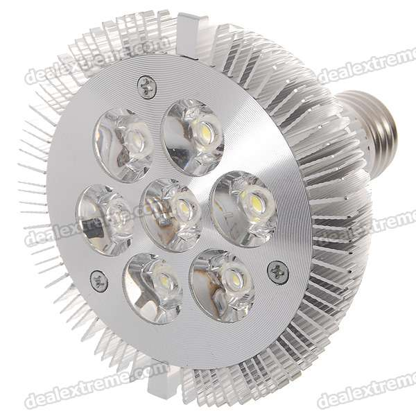 E27 7W 590-Lumen White Light 7-LED Cup Bulb (220V AC)E27<br>MaterialPCForm  ColorWhiteQuantity1 DX.PCM.Model.AttributeModel.UnitPower7WRated VoltageAC 220 DX.PCM.Model.AttributeModel.UnitConnector TypeE27Emitter TypeLEDTotal Emitters7Color BINCold WhiteActual Lumens590 DX.PCM.Model.AttributeModel.UnitColor Temperature5000KDimmableNoPacking List1 x Light Bulb<br>