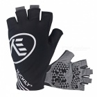 NUCKILY Outdoor Riding Anti Vibration Half-Finger Gloves - Black/L