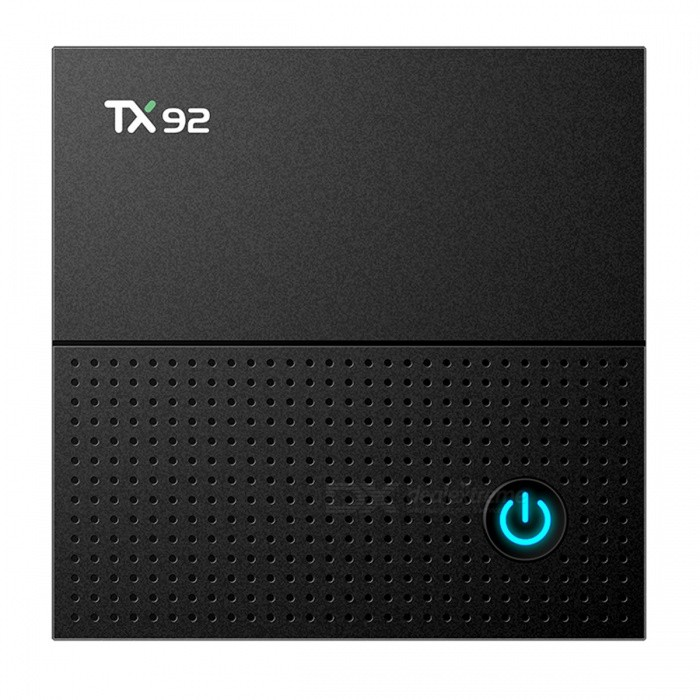 TX92 Amlogic S912 Android 7.1 4K HD TV Box with 3GB, 64GB (EU Plug)Smart TV Players<br>Form  ColorBlackBuilt-in Memory / RAM3GBStorage64GBPower AdapterEU PlugModelTX92Quantity1 DX.PCM.Model.AttributeModel.UnitMaterialABSShade Of ColorBlackOperating SystemOthers,Android 7.1ChipsetAmlogic S912CPUOthers,Cortex A53Processor Frequency2.0GHzGPUARM Mali-T820MP3Menu LanguageEnglish,Others,French, Spanish, Italian, Japanese, Germany, Multi-languageMax Extended Capacity128GBSupports Card TypeMicroSD (TF)Wi-Fi2.4GHZ/5.8GHZ 802.11a/b/g/n /acBluetooth VersionOthers,Bluetooth V4.13G FunctionYesWireless Keyboard/Mouse2.4Audio FormatsOthers,MP3, OGG,WAV, WMAVideo FormatsOthers,H.265, H.264, AVI, MKV, MP4, RMV, BRM, M4V, MPEG4Audio CodecsDTS,AC3,FLACVideo CodecsOthers,H.265H.264H.263HD MPEG4Picture FormatsOthers,JPEG, GIF, BMP, PNG, TIFFSubtitle FormatsMicroDVD [.sub],SubRip [.srt],Sub Station Alpha [.ssa],Sami [.smi]idx+subPGSOutput Resolution1080PHDMI2.0Power Supply5V 2APacking List1 x TV Box1 x Power Adapter1 x Remote control1 x HDMI Cable 1 x User Manual<br>