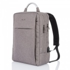 OSOCE S10 Business Travel Rucksack mit extra USB Port - Grau