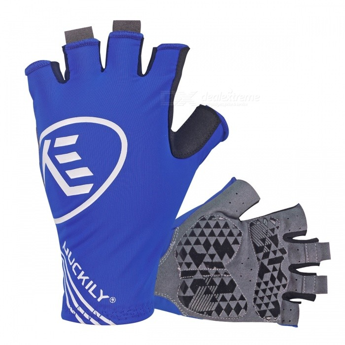 NUCKILY Outdoor Riding Shockproof Half-Finger Gloves - Blue (S)Gloves<br>Form  ColorBlueSizeSModelPC04Quantity1 setMaterialLycra/Microfiber Leather/GEL Palm padsTypeHalf-Finger GlovesSuitable forAdultsGenderUnisexPalm Girth7.3-7.8 cmBest UseCycling,Mountain Cycling,Recreational Cycling,Road Cycling,Bike commuting &amp; touringPacking List1 Pair x Half-finger Gloves<br>