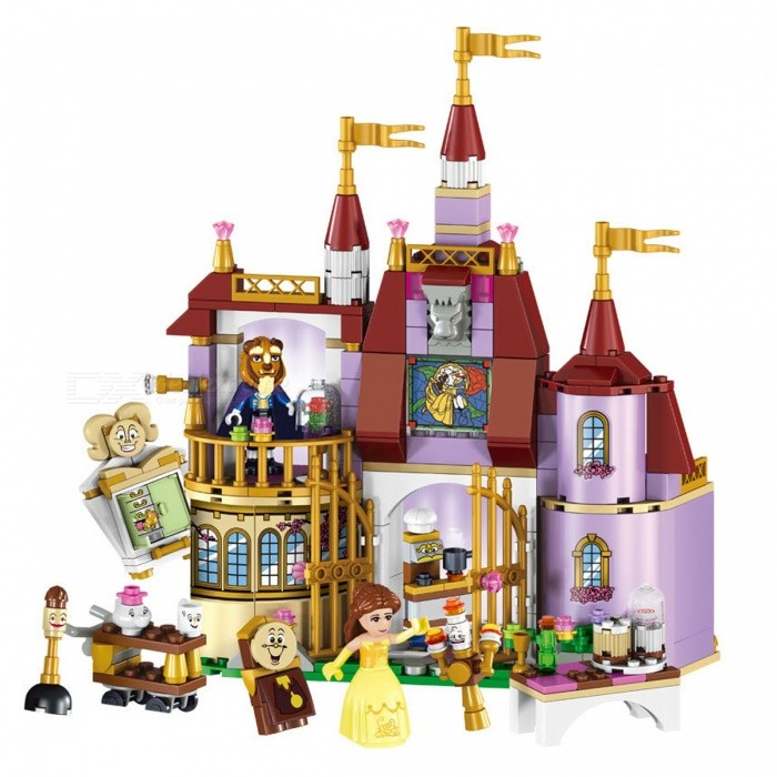 Beauty and The Beast Princess Belles Enchanted Castle Building BlocksBlocks &amp; Jigsaw Toys<br>Form  ColorGolden + Purple + Multi-ColoredMaterialPlasticQuantity1 DX.PCM.Model.AttributeModel.UnitNumber/Size/Suitable Age 5-7 years,8-11 years,12-15 yearsPacking List1 x Building Block set<br>