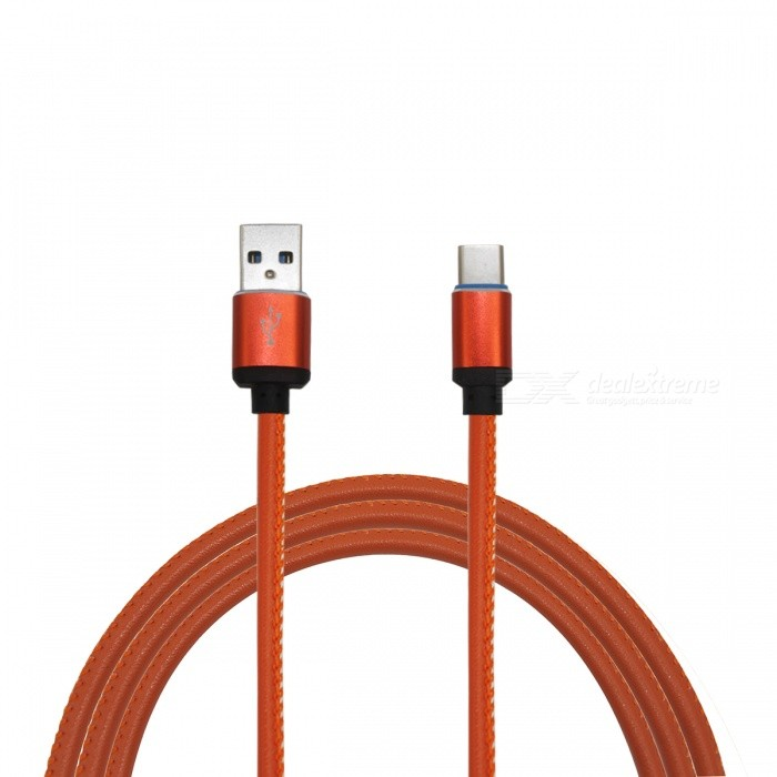 Mini Smile 3.4A Leather Type-C Charging Data Cable for NintendoCables &amp; Adapters<br>Form  ColorLight BrownModelTC-PLQuantity1 DX.PCM.Model.AttributeModel.UnitMaterialLeather + Aluminium alloyShade Of ColorBrownCompatible ModelsOthers,NintendoCable Length100 DX.PCM.Model.AttributeModel.UnitConnectorUSB 3.1 Type-cPacking List1 x Cable<br>