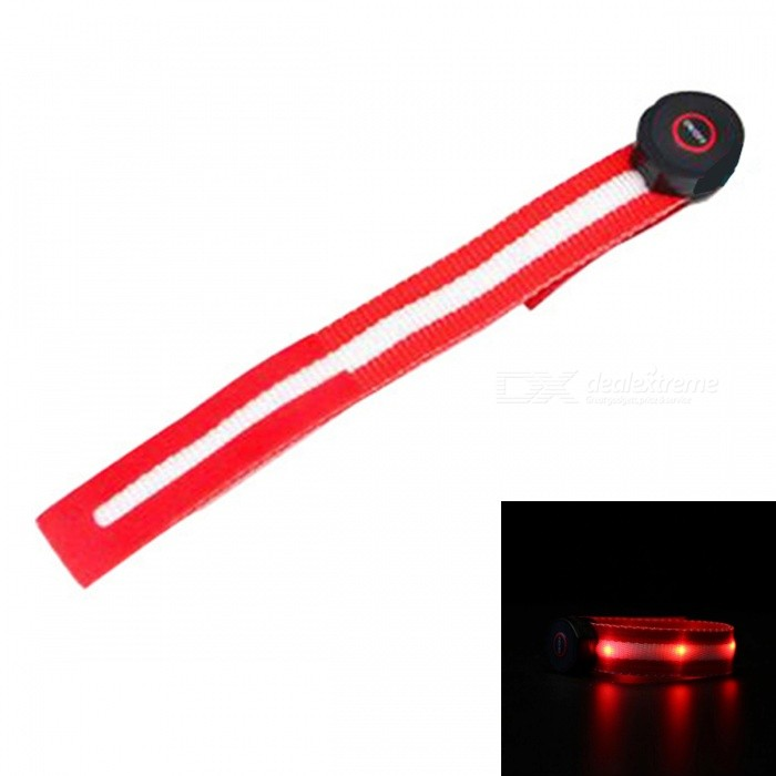 Sports LED Stretchable Bandage for Men, Women - RedForm  ColorRedQuantity1 DX.PCM.Model.AttributeModel.UnitMaterialTelescopic belt + PlasticPowered ByOthers,Button batteryPacking List1 x LED Bandage2 x Button batteries<br>