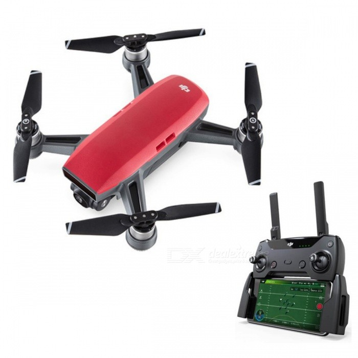 DJI Spark RC Quadcopter Fly More Combo - Red / RTFR/C Airplanes&amp;Quadcopters<br>Form  ColorRedModelSparkMaterialPlasticQuantity1 DX.PCM.Model.AttributeModel.UnitShade Of ColorRedGyroscopeYesChannels Quanlity6 DX.PCM.Model.AttributeModel.UnitFunctionUp,Down,Left,Right,Forward,Backward,StopRemote TypeRadio ControlRemote control frequency2.4GHzRemote Control Range1000~2000 DX.PCM.Model.AttributeModel.UnitSuitable Age Grown upsCameraYesCamera PixelOthers,12MPLamp YesBattery TypeLi-polymer batteryBattery Capacity1480 DX.PCM.Model.AttributeModel.UnitCharging Time30 DX.PCM.Model.AttributeModel.UnitWorking Time15~16 DX.PCM.Model.AttributeModel.UnitRemote Controller Battery TypeOthers,Built-in rechargeable batteryRemote Controller Battery Number1Remote Control TypeIncluded,IPHONE or IPAD or IPOD,Others,2.4GHz Wireless Remote ControlModelMode 2 (Left Throttle Hand)Packing List1 x DJI Spark1 x Remote Controller4 x Pairs of Propellers2 x Flight Battery1 x Charger4 x Propeller Guards1 x Charging Hub1 x Power Cable1 x USB Cable1 x Carrying Case1 x Shoulder Bag<br>