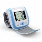 Home Health Care Automatic Wrist Blood Pressure Monitor - Blue