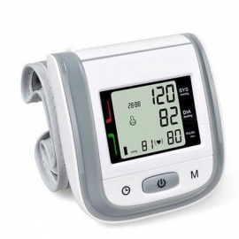 Home Health Care Automatic Wrist Blood Pressure Monitor - Gray