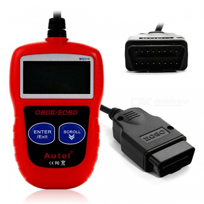 DHL or EMS Autel (AULMS310) MaxiScan MS310 OBDII EOBD Code ReaderCode Readers and Scan Tools<br>Form  ColorRedModelMS310Quantity1 DX.PCM.Model.AttributeModel.UnitMaterialABS + PlasticWireless BluetoothNoDiagnose Interface16pinSupported LanguagesOthers,English, Spanish, French, German and etcPacking List1 x MS310 Tool1 x Users Manual1 x CD software1 x USB cable<br>