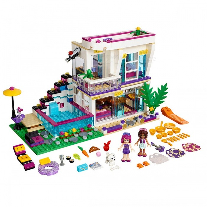 619Pcs Bela Friends Series Livis Pop Star House Building Blocks ToyBlocks &amp; Jigsaw Toys<br>Form  ColorColourfulMaterialPlastic ABSQuantity1 DX.PCM.Model.AttributeModel.UnitNumber619Suitable Age 5-7 years,8-11 yearsPacking List619 x Bricks1 x Instruction<br>