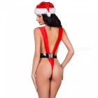 Christmas Girl Deep V Sexy Lingerie - Red