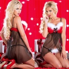 Condole Belt Christmas Girl Allure Sex Underwear - Black