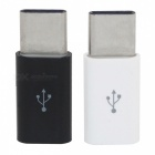 Mini Smile USB 3.1 Typ C till Micro USB Data Laddningsadaptrar (2 PCS)