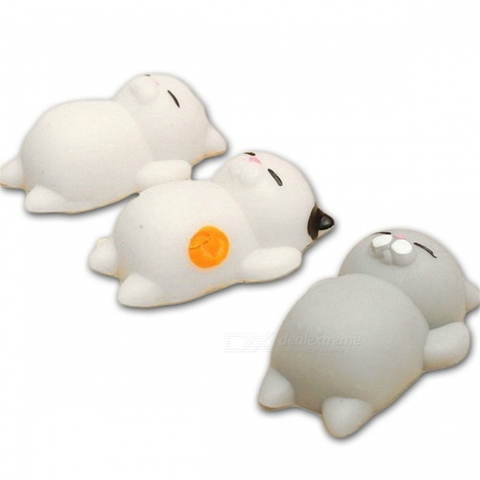 Cute Cartoon Lazy Sleeping Cat Squishy Toy - Mixed Color (3 PCS)Stress Relievers<br>Form  ColorMixed ColorMaterialTPRQuantity3 DX.PCM.Model.AttributeModel.UnitSuitable Age 8-11 years,12-15 years,Grown upsPacking List3 x Toys<br>
