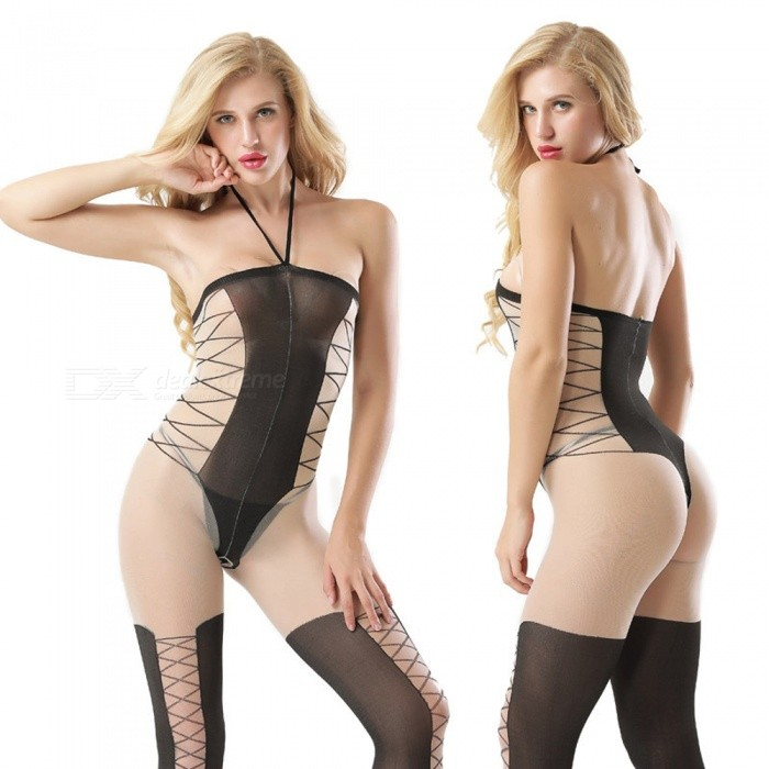 Mesh Passion Seductive Sexy Lingerie - Black