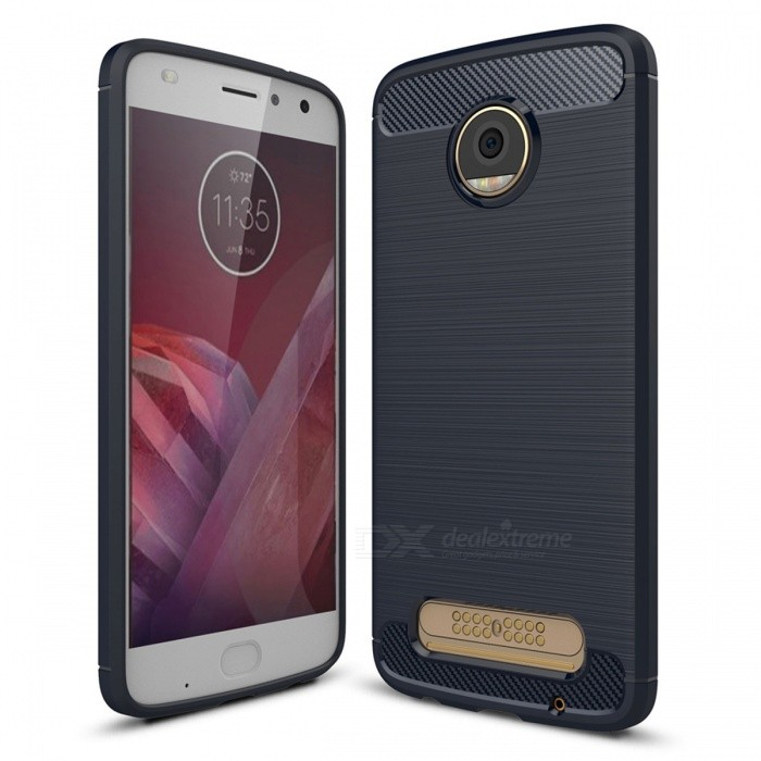 Dayspirit Wire Drawing TPU Case for Moto Z2 Play - Navy BlueTPU Cases<br>Form  ColorPurplish BlueModelN/AMaterialTPUQuantity1 pieceShade Of ColorBlueCompatible ModelsMoto Z2 PlayPacking List1 x Case<br>