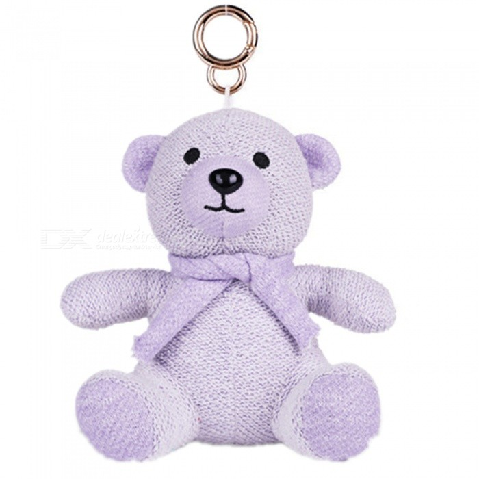 KELIMA Mini Cartoon Plush Bear Doll Bluetooth Speaker - Purple