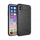 Mini Smile PC TPU Back Case with Card Slots for IPHONE X - Black