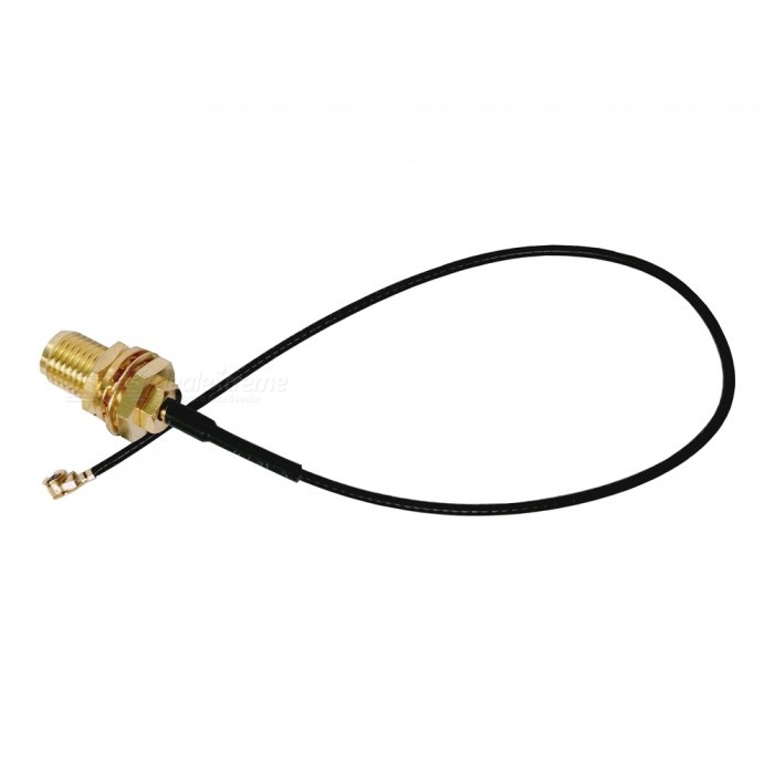 Wi-FiI Wireless Router Transmitter IPX to SMA Adapter CableDIY Parts &amp; Components<br>Form  ColorGolden + BlackQuantity1 setMaterialPlastic + metalEnglish Manual / SpecNoCertificationNoPacking List1 x Cable<br>