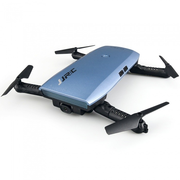JJRC H47 Elfie+ Mini Foldable Wi-Fi Drone Quadcopter - BlueR/C Airplanes&amp; Quadcopters<br>Form  ColorSapphire BlueModelH47WHMaterialABSQuantity1 setShade Of ColorBlueGyroscopeYesChannels Quanlity4 channelFunctionOthers,Up , Down , Left , Right , Forward , Backward , Stop , Hovering , Sideward flightRemote TypeRadio ControlRemote control frequency2.4GHzRemote Control RangeControl Distance: 50-100m Detailed Control Distance: 80~100 mSuitable Age 13-24 months,12-15 yearsCameraYesCamera PixelOthers,720PLamp YesBattery TypeLi-ion batteryBattery Capacity500 mAhCharging Time70 minutesWorking Time7 minutesRemote Controller Battery TypeAAARemote Controller Battery Number2 (not included)Remote Control TypeWirelessModelMode 2 (Left Throttle Hand),Others,Mode 1 &amp; Mode 2 Left &amp; Right-hand Throttle,WiFi APPCertificationCEOther FeaturesDescription:<br>JJRC ELFIE+, bigger than the previous generation, is superior and cooler. The buttons at the bottom fix the motor arms to avoid displacement when you are flying the UAV. A drone case is also included for outdoor photography. One Key Return is available, and more importantly, it comes with a small G-sensor controller, so single-handed operation becomes possible. With 2MP camera, Beauty Mode and Altitude Hold, you can have ravishing photos and smooth videos without any difficulty.Packing List1 x Drone (Battery Included)1 x G-sensor Controller4 x Spare Propellers1 x USB Cable1 x Screwdriver1 x Chinese-English Manual1 x Drone Case<br>
