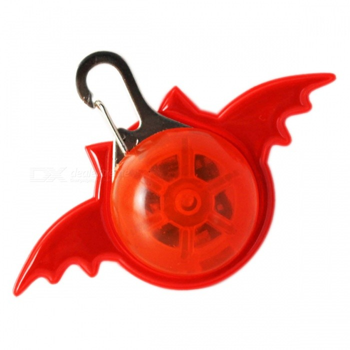 YWXLight Bat Shape LED Luminous Pet Decorative Key Pendant - RedLED Nightlights<br>Form  ColorRedConnector TypeOthersMaterialPCQuantity1 piecePower1WRated VoltageOthers,DC 5 VColor BINRedChip BrandOthersEmitter TypeLEDTotal Emitters1Theoretical Lumens100-200 lumensActual Lumens75 lumensColor Temperature12000K,OthersDimmableYesBeam Angle180 °Installation TypeOthersPacking List1 x YWXLight LED Bat Pendant<br>