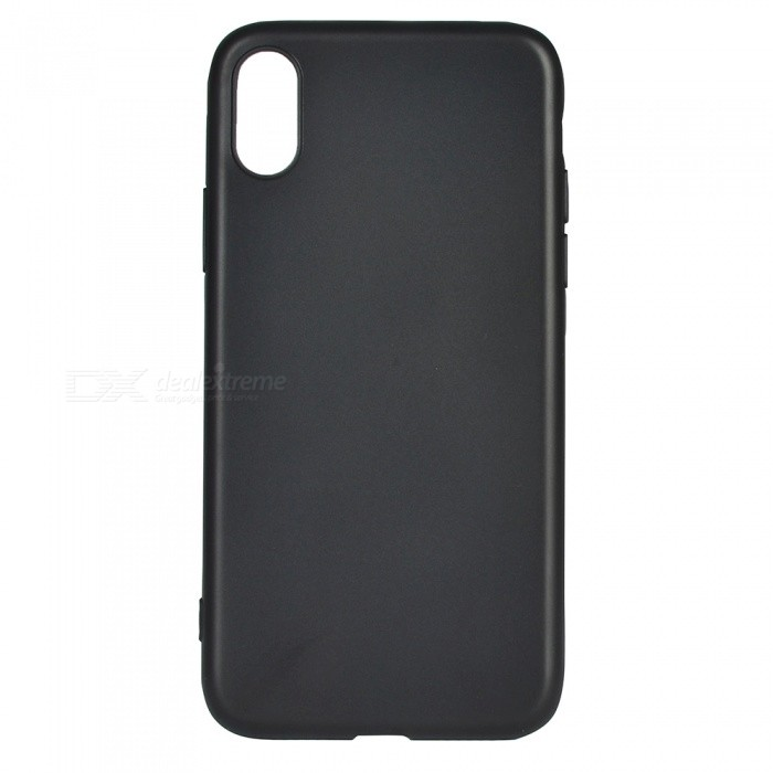 Protective TPU Back Case Cover for IPHONE X - BlackTPU Cases<br>Form  ColorBlackQuantity1 DX.PCM.Model.AttributeModel.UnitMaterialTPUCompatible ModelsOthers,IPHONE XDesignSolid Color,MatteStyleBack CasesPacking List1 x Case<br>